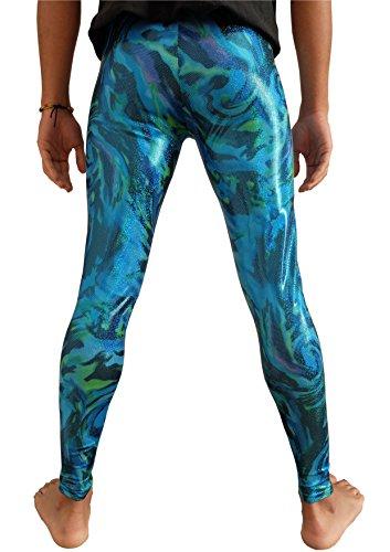 Merman Men's Leggings Meggings Men's Compression Tights Festival Pants EDM Clothing Hologram Glitter Clothes XS S M L XL XXL (Small)