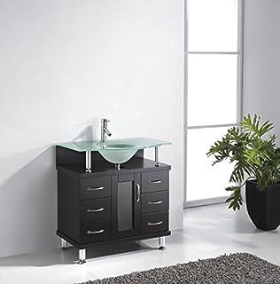 32 Bathroom Vanity Cabinet. Bathroom Vanity Cabinet Virtu Vincente Single  Sink Espresso With Frosted Tempered