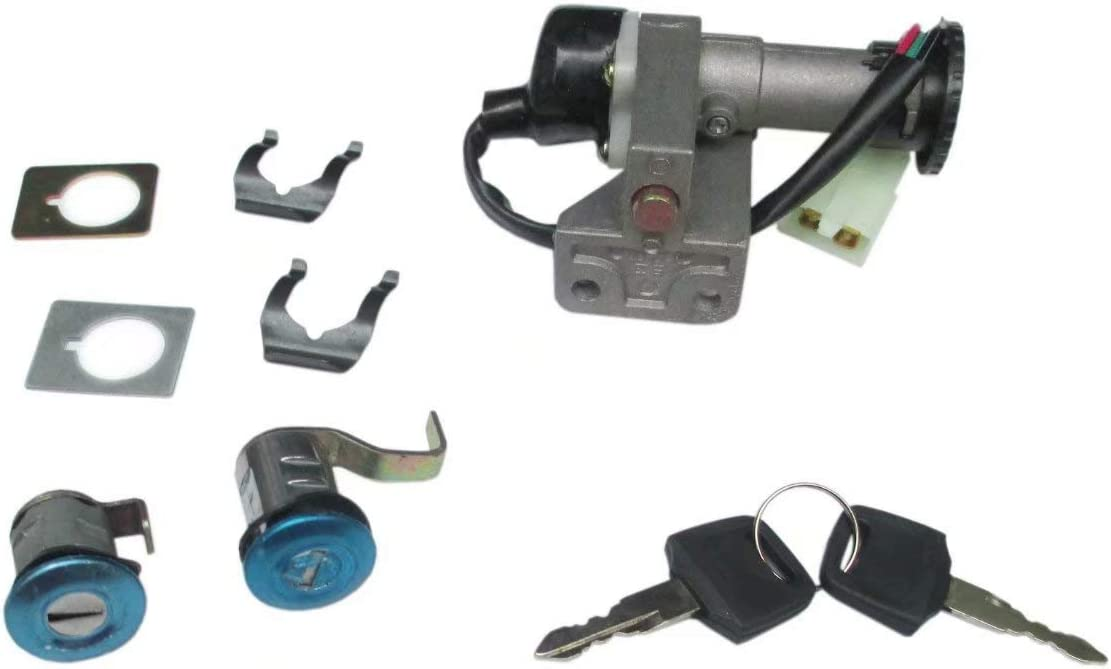 New PerFormance Ignition Switch Key Set For Replacing Scooter TaoTao VIP Magnum 50 Sunny 150 Roketa Peace ICE