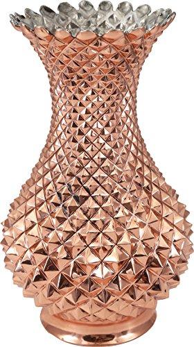 Traditional Design Hand made, Hand Carved, Hand Hammered, Hand Painted Solid Copper Flower Vase, Large Floor Vase, Ideal gift for Wedding, Home Decor, Copper Vase -(VS-105)
