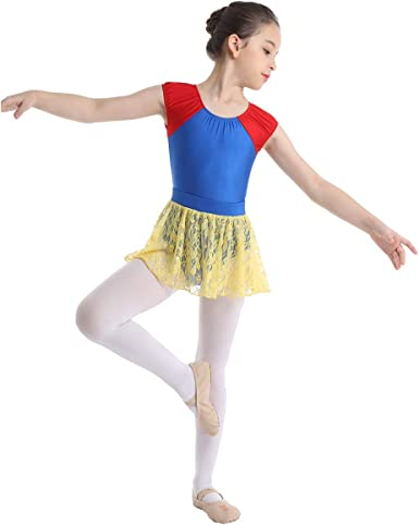 inhzoy Maillot de Danza Ballet Encaje para Niña Vestido Tutú de ...