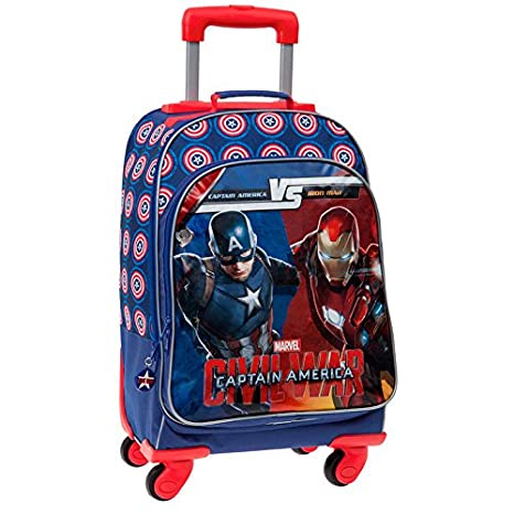 Civil War - gran mochila 4 ruedas Luxe Iron Man Vs Captain America - Civil War: Amazon.es: Equipaje