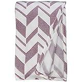 Elegant Comfort #1 Fleece Blanket On Amazon, Micro-Fleece Ultra Plush Arrow Pattern, Blanket, King, Purple