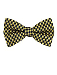 Tommy Hilfiger Yellow - Navy Pre Tied Bowtie