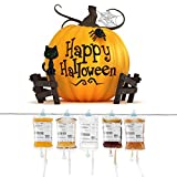 Blood Bag Drink Container Set of 10 IV Bags (11.5 Fl Oz) with Blood Type Stickers for Halloween Party by AusKit