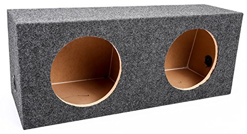 Qpower QAHD10E Empty Woofer Box, Angled Hatchback 'ahd10e'