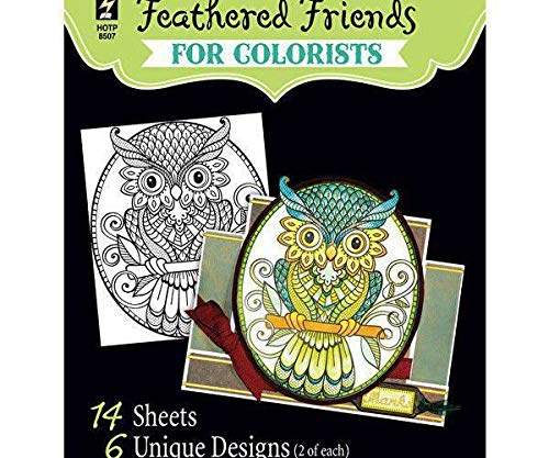 Coloring Book of Owls and Birds, Hot Off The Press, Inc. Royalty Free Cliparts, Vectors, and Stock Illustration