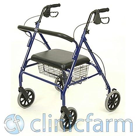 Andador plegable ligero Rollator para discapacitados andador con ruedas 8 Pvc