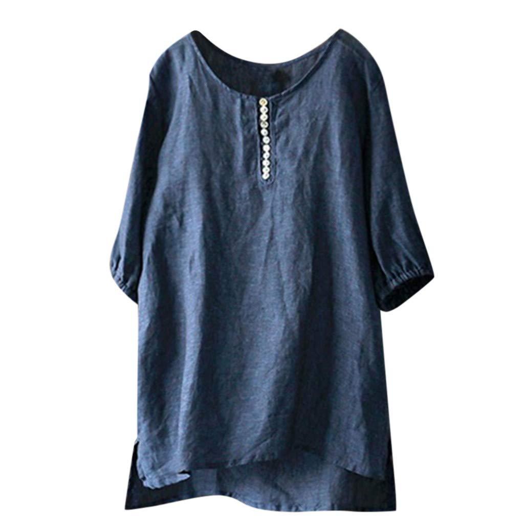 FOTBIMK Damenmode Casual Kurzarm Oansatz Solide Kurze Tops T-Shirt Bluse