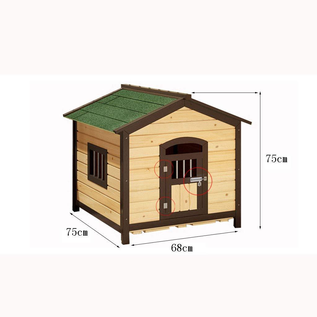 Log verde verde verde verde Doghouse Canile Carbonizzato Outdoor Cat lettiera Gabbia per cani Large Dog Pet Kennel Impermeabile Protezione solare Antisettico casa 51a688