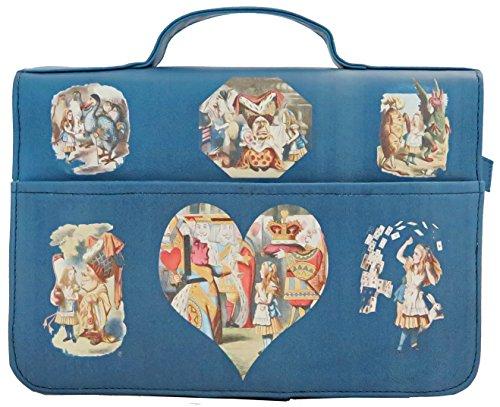 Bagabook Schutzhülle für Alice im Wunderland blau Buch und Tagebuch, Notizblock Bibel Tasche w Einzigartige Handschlaufe