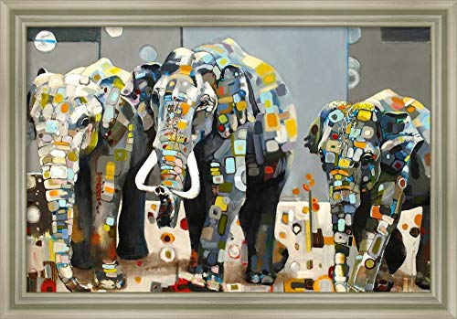 Framed Canvas Wall Art Print | Home Wall Decor Canvas Art | Sumatran Elephants by Britt Freda | Modern Decor | Stretched Canvas Prints