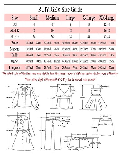 RUIYIGE - Vestido - para mujer Rojo