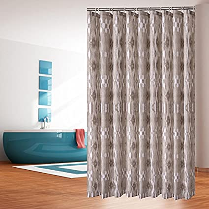 Amazon FANNEE Striped Wooden Shower Curtain Set Rustic Old