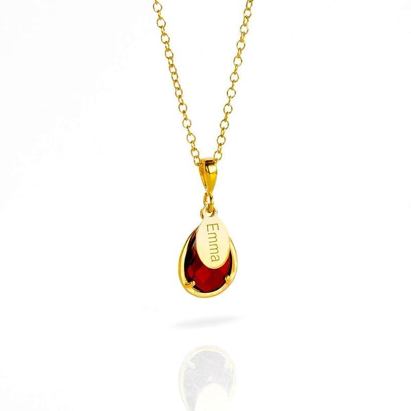 Garnet necklace personalized January birthstone necklace garnet rosary gold January necklace gold choker necklace genuine garnet red garnet