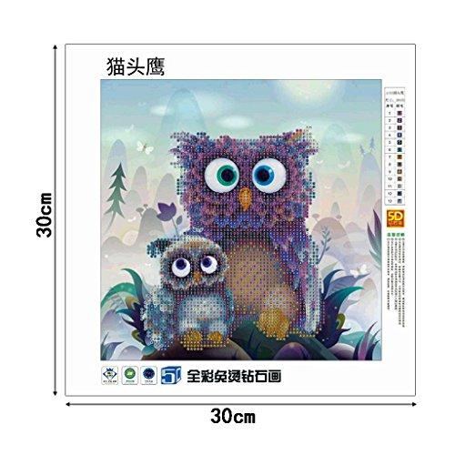 SCASTOE Owls DIY 5D Diamond Embroidery Painting Cross Stitch Craft Home Decor