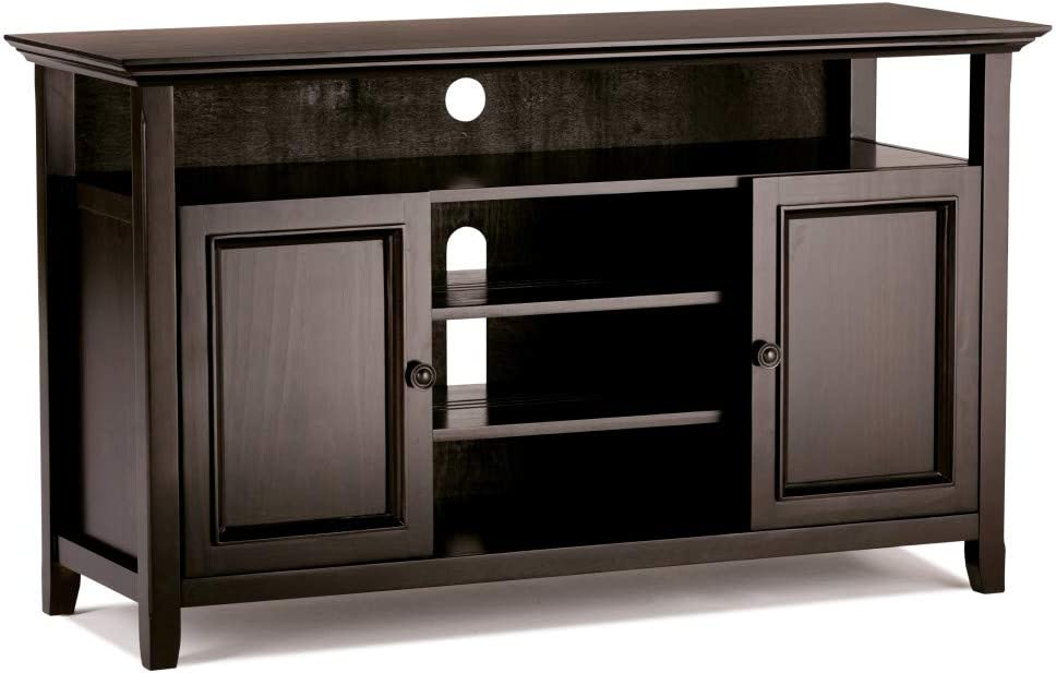 Simpli Home AXCRAMH16-HIC Amherst Media TV Stands, Hickory Brown