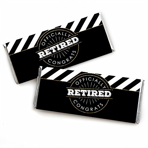 - Happy Retirement - Candy Bar Wrapper Retirement Party Favors - Set of 24