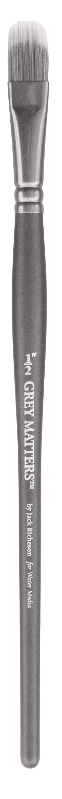Jack Richeson Richeson Grey Matters Synthetic Filbert Rake 1/2'' by Jack Richeson