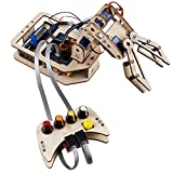 SunFounder Robotic Arm Kit DIY 4-Axis Wooden Mental Servo Rollarm for Arduino Uno