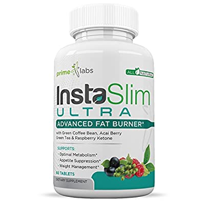 InstaSlim Ultra Weight Loss Pills That Work for Women and Men with Green Coffee Bean, Acai Berry, Green Tea, & Raspberry Ketone - Appetite Suppressant & Carb Blocker - 60 Tablets