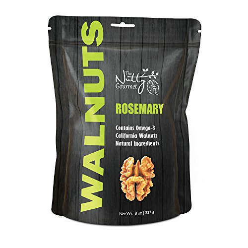 The Nutty Gourmet - Flavored Walnuts 8oz - (Rosemary)