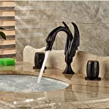GOWE Luxury Oil Rubbed Bronze Bathroom Basin Faucet Vanity 8'' Widespread Mixer Tap