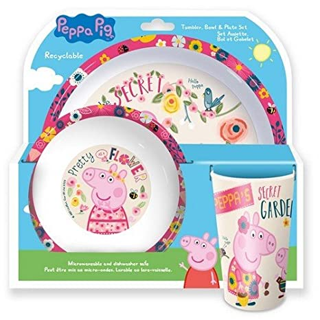 Peppa Pig 3 Piece Dinner Set (One Size) (Multicoloured) UTSG13751_1