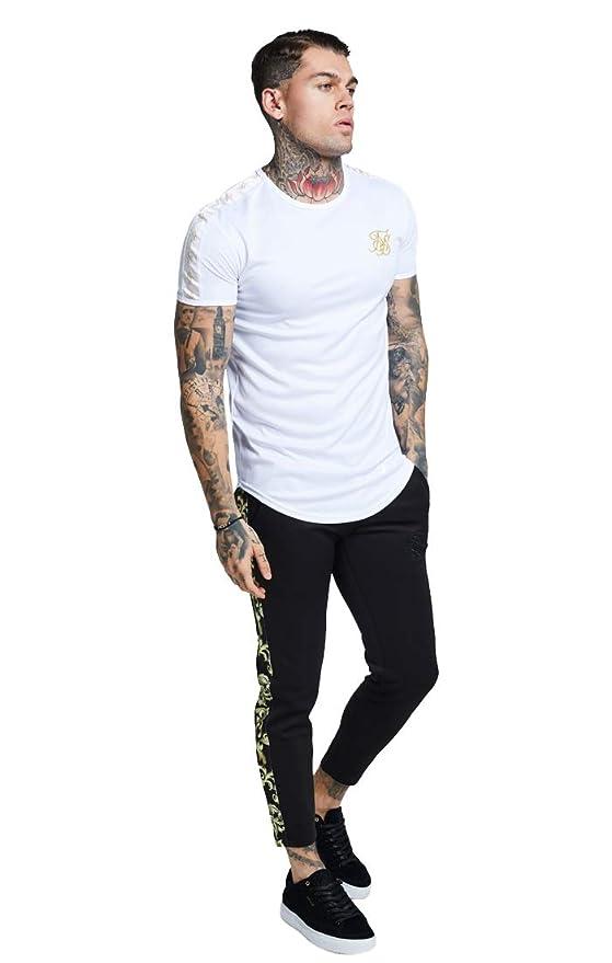 5330773da Sik Silk Hombre Camiseta con Cinta Dorada de Lurex