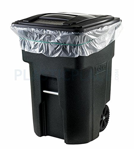 Plasticplace 95 Gallon Trash Bags, 2.0 Mil, 61'' W x 68'' H, Clear, 50/Case by Plasticplace