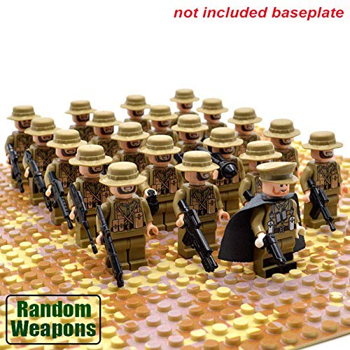 Olive Green Custom AMMO POUCH  2 pc lot For Lego Minifigures Army WW2 Military