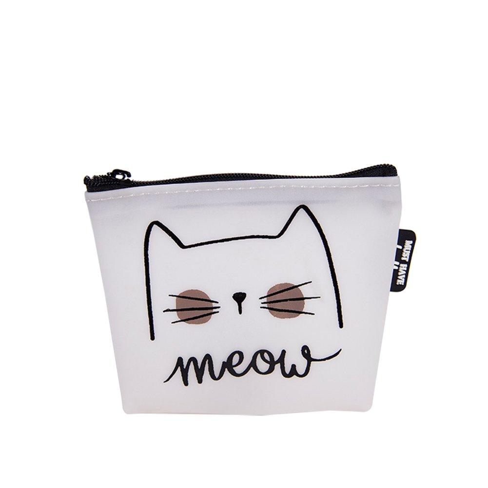 Emorias 1pc Beau porte-monnaie image de chat Miroir de mode téléphone portable porte-monnaie Charmant sac d'étudiant