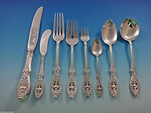 Valenciennes by Manchester Sterling Silver Flatware Service Set 34 Pieces