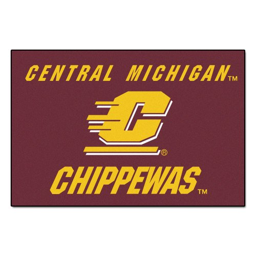 Central Michigan Starter Rug (FANMATS NCAA Central Michigan University Chippewas Nylon Face Starter)