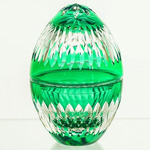 Candy Dish Crystal Emerald Egg ()