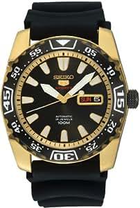 Seiko SRP170K1 - Reloj analógico de cuarzo para hombre con correa de caucho, color negro