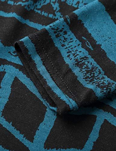 T noir Manches Shirt Femmes Longues Blouse Hem BaiShengGT Bouton Bleu Bnitier Col Flared TgawBq575
