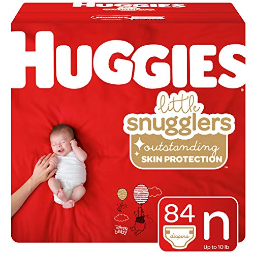 Huggies Little Snugglers Baby Diapers, Size Newborn, 84 Count (Packaging May ()