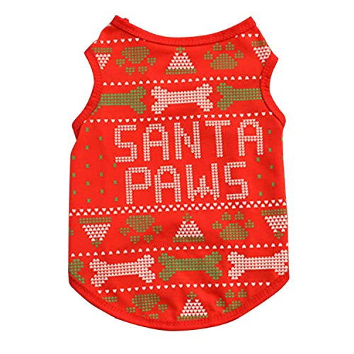 Pet Dog Clothes Christmas Costume Cute Cartoon Clothes for Small Dog Cloth Costume Dress Xmas Apparel for Kitty Dogs P2,1,XS]()