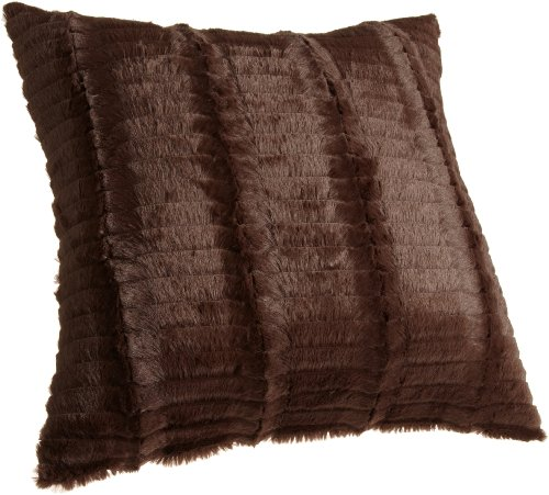 Brentwood 922 Cut Fur Chocolate Pillow, 18-Inch (Chocolate Throw Pillows compare prices)