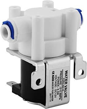 1 válvula purificadora eléctrica magnética de plástico solenoide de 12 V CC, de conexión rápida, normalmente cerrada para dispensador de agua a máquina/purificador de ...