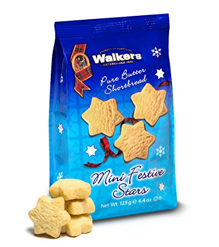 Walkers Shortbread Hanukkah Mini Festive Stars, 4.4 Ounce (Pack of 12)