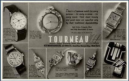 Amazon com: Excellent 1943 AD for The TOURNEAU Wristwatch