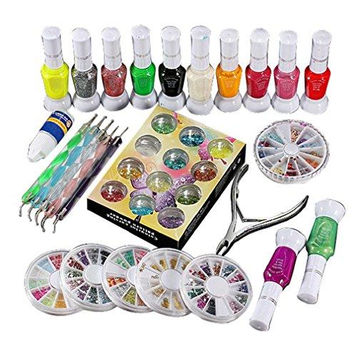 Tongshi 1 set polnischen Leim Gem Glitter Strasssteine Clipper Punktierung Nail Art Maniküre Tool