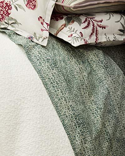 Ralph Lauren Notting Hill Eaton King Flat Sheet - Green Ivor.