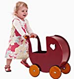 Moover Doll Pram, Red - Fits Dolls up to 17'' Tall