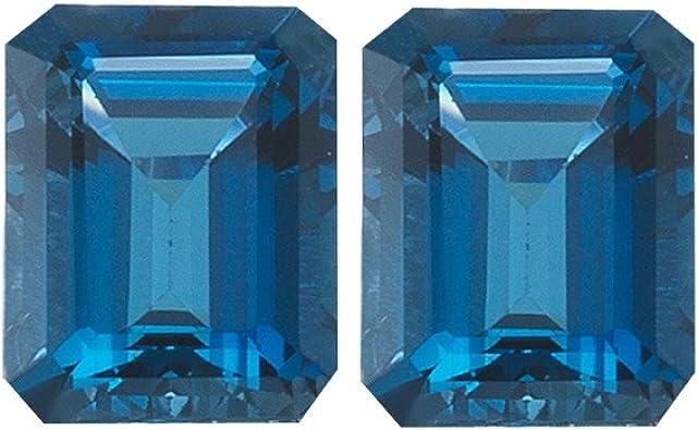 London Blue Topaz Natural 7 x 5  MM Oval Cut  AAA