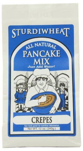 (Sturdiwheat All Natural Pancake Mix, Crepes, 12-Ounce Package (Pack of 4))