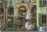 """Afternoon in Collioure"" by Ginger Cook - Artwork On Tile Ceramic Mural 17"" x 25.5"" Kitchen Backsplash"