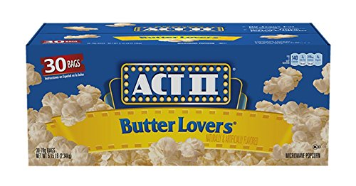 Act II Butter Lovers Microwave Popcorn (3oz., 30 bags) - Act Ii Microwave Popcorn